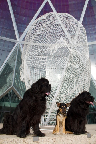 We decided to check out Calgary's latest public art instalment - very cool!