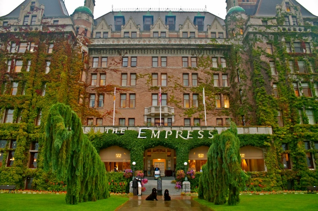 Moses and Alma at the famed Empress Hotel in Victoria, BC.