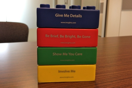 My Insights blocks on display on my desk. This order translates to CDSI for the DISC assessment.
